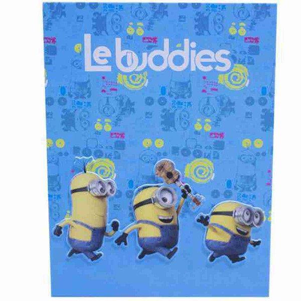 Álbum Azul Le Buddies 20 Folhas - Minions   Meu Malvado Favorito