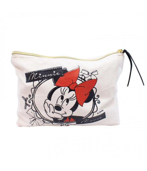 Necessaire Minnie Pensativa 25x18x6cm - Disney