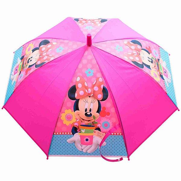 Guarda Chuva Infantil Pink Minnie Vaso - Disney