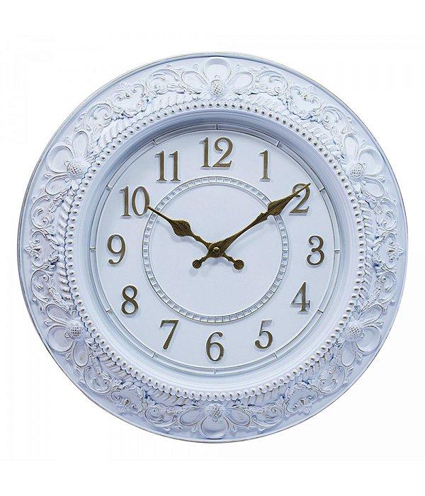 Relógio Parede Moldura Européia 40x40cm