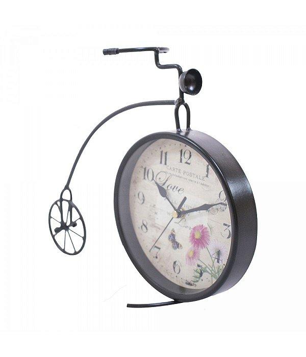Bicicleta Preto Relógio 30cm