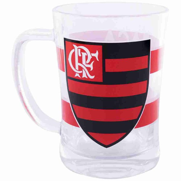 Caneca De Vidro 660ml - Flamengo