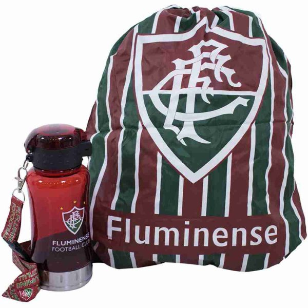 Garrafa 500ml Com Mochila Tipo Saco - Fluminense