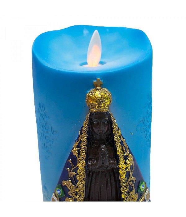 Nossa Senhora Aparecida Luminária Vela 17.5cm - Enfeite Resina