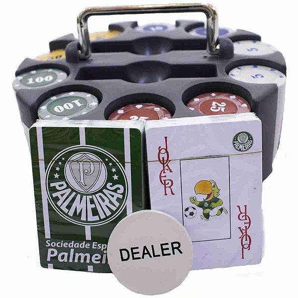 Jogo De Poker 200 Fichas E Baralhos - Palmeiras