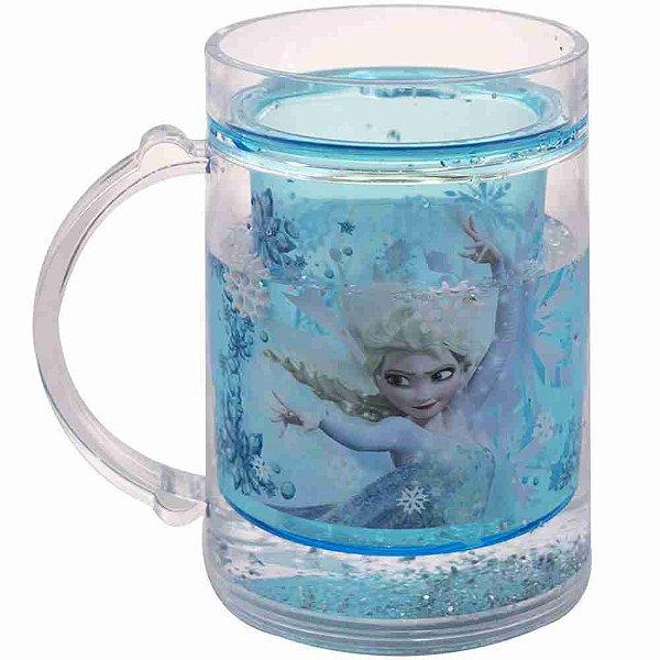 Caneca Azul Líquido Elsa Frozen 250ml - Disney