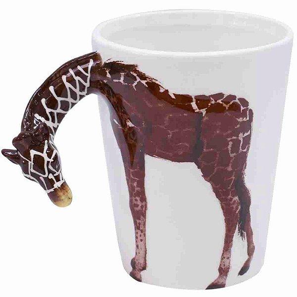 Caneca De Porcelana Alça Girafa 320ml