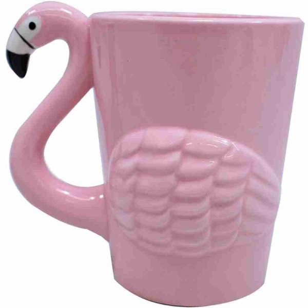 Caneca Porcelana Flamingo 370ml