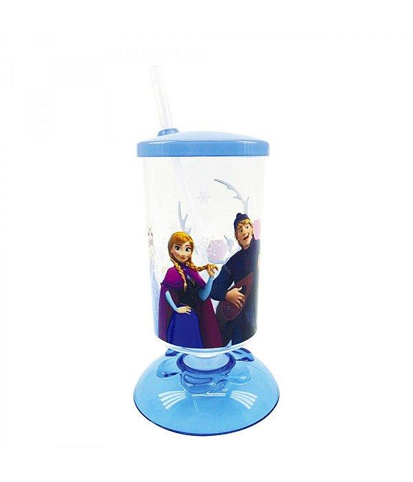 Copo Articulado Com Canudo Anna & Elsa Frozen 250ml - Disney