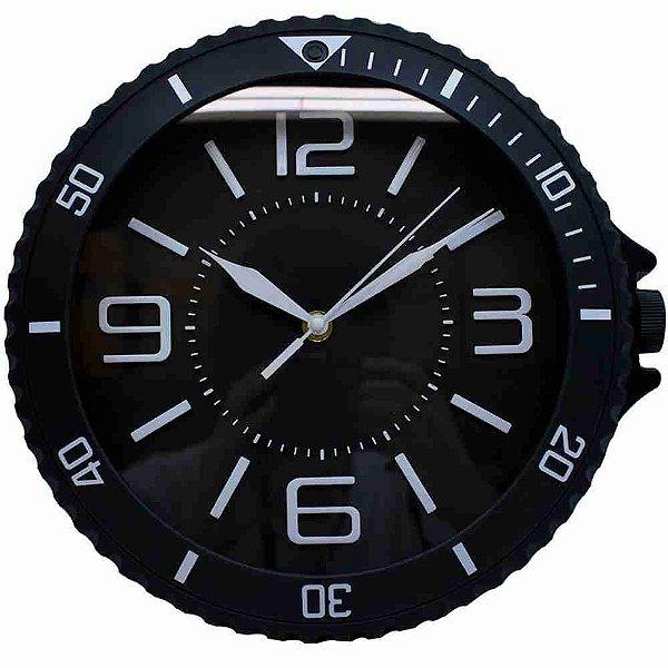 Relógio Parede Preto 29x30cm