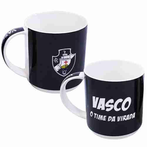 Jg Com 2 Canecas De Porcelana 270ml - Vasco