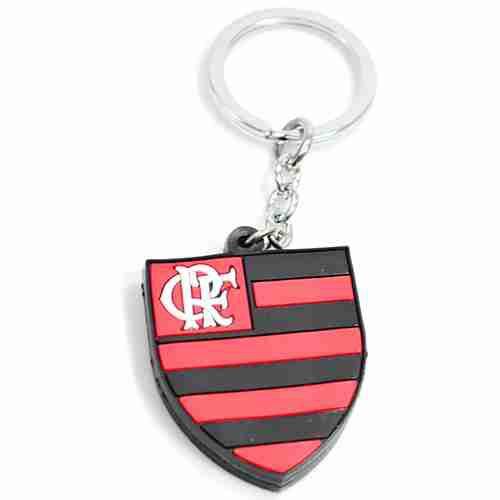 Chaveiro De Borracha Com Brasão De Time - Flamengo