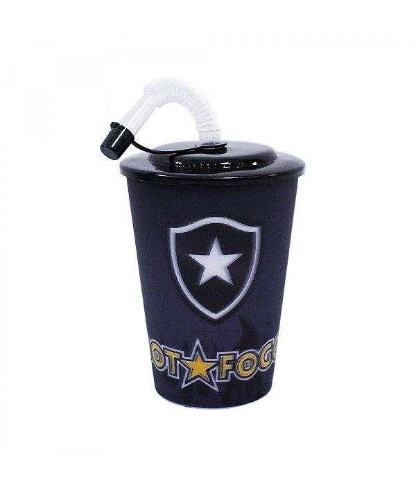 Copo 3D Com Canudo 450ml - Botafogo