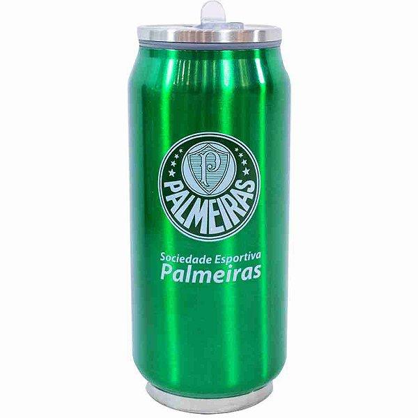 Copo De Inox Com Canudo 350ml - Palmeiras