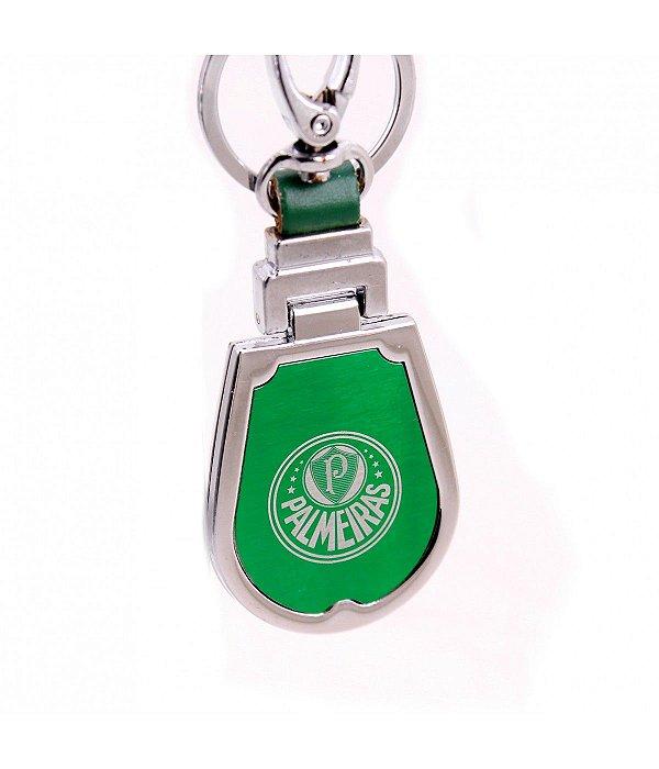 Chaveiro de Couro e Metal - Palmeiras - Infinity Presentes d569cb0ba302c