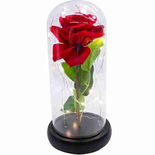 Luminária Rosa Encantanda A Bela E A Fera 24x12cm - Disney