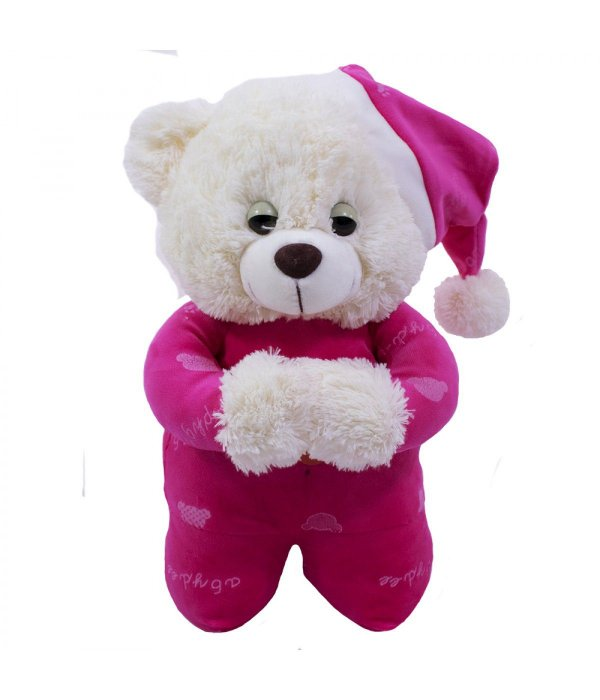 Urso Pijama Pink Reza 35cm - Pelúcia