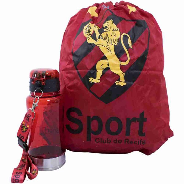Garrafa 500ml Com Mochila Tipo Saco - Sport Club
