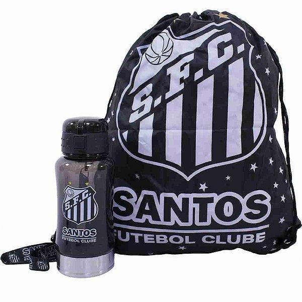 Garrafa 500ml Com Mochila Tipo Saco - Santos