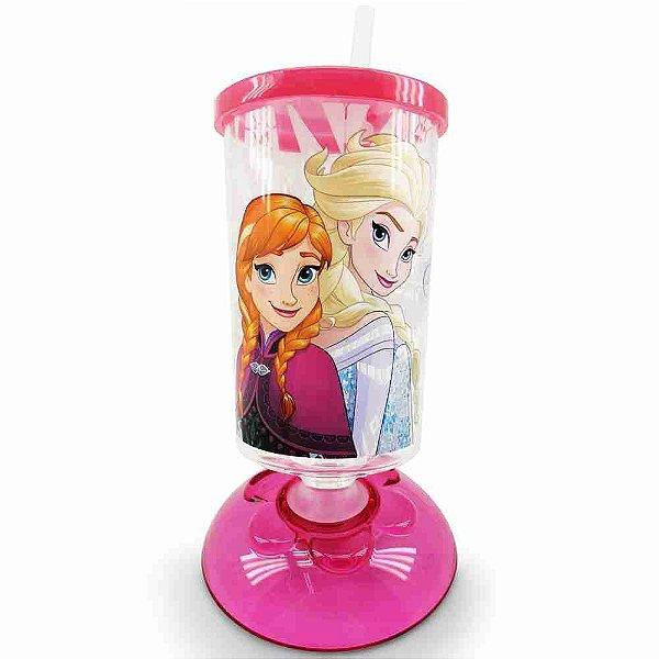 Copo Articulado Com Canudo Irmãs Frozen 250ml - Disney