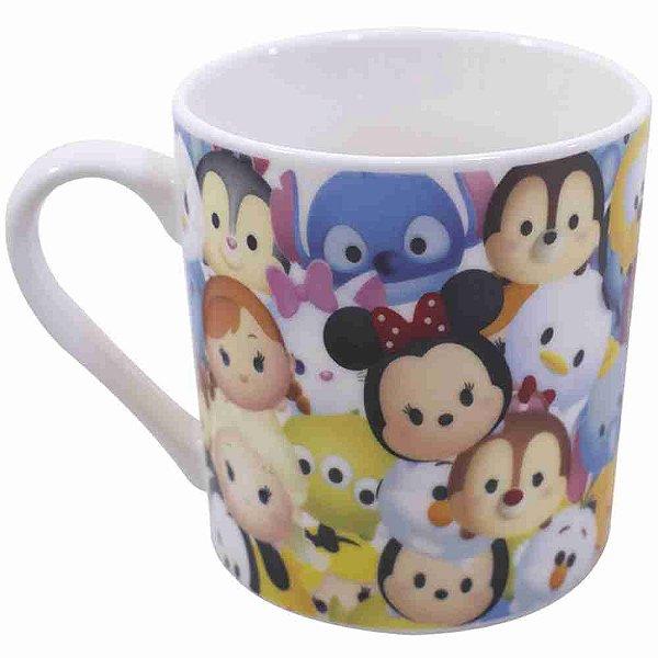 Caneca De Porcelana Mickey & Minnie Tsum Tsum Personagens 250ml - Disney