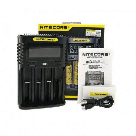 Carregador de Bateria   UMS4 - Nitecore® USB