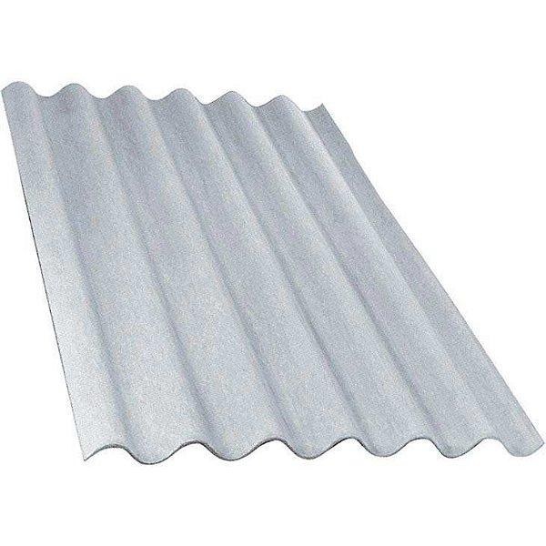 Telha ondulada de fibrocimento 1,22 x 1,10 x 6mm