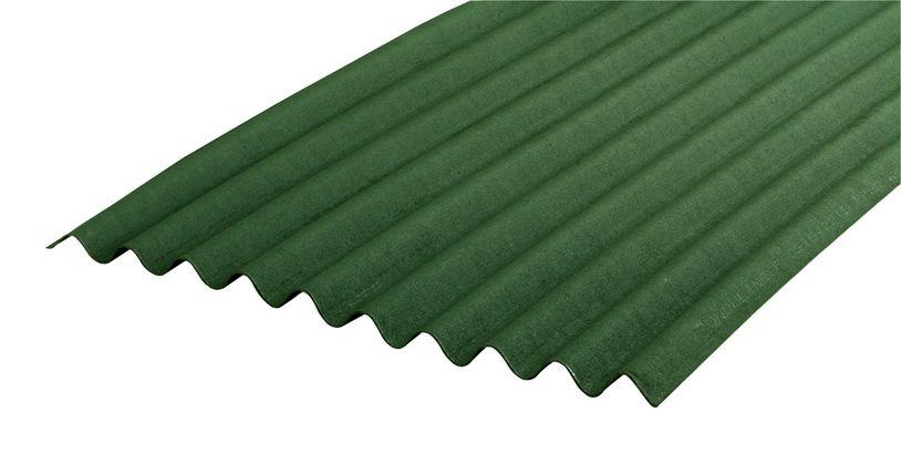 Telha Ecológica Onduline Verde 2,00m x 0,95m