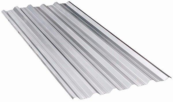 Telha Metálica Trapezoidal em Aço Galvanizado 2,00m x 1,03m