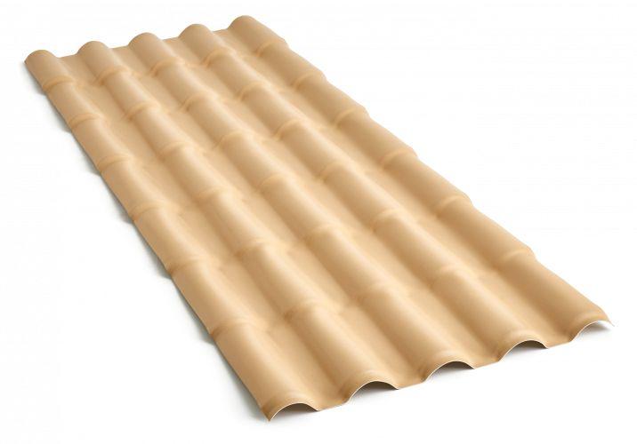 Telha colonial de PVC 5,25m Marfim