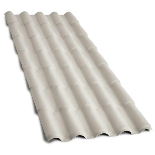 Telha colonial de PVC 2,30m Concreto