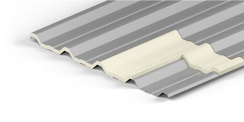 Telha Sanduíche Termo-acústica Trapezoidal (Preenchimento Isopor)
