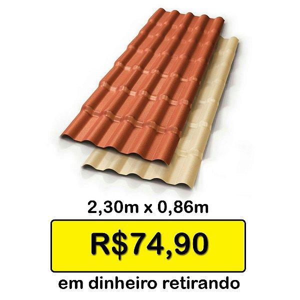 Telha Colonial PVC 2,30 x 0,86 promo