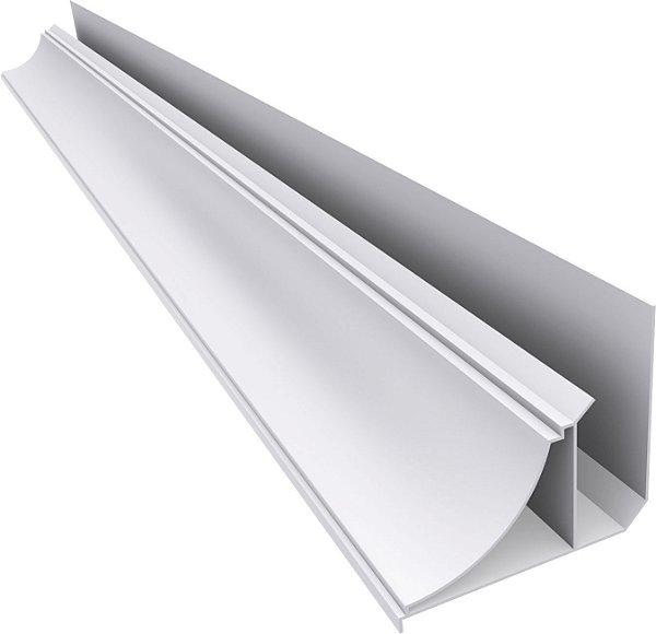 Moldura Rodaforro PVC Sanca Cor Branca 6 Metros