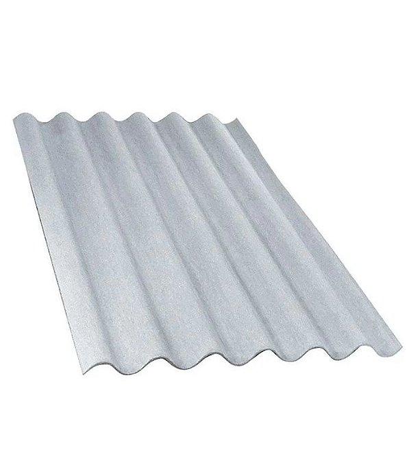 Telha ondulada de fibrocimento 1,53 x 1,10 x 5mm