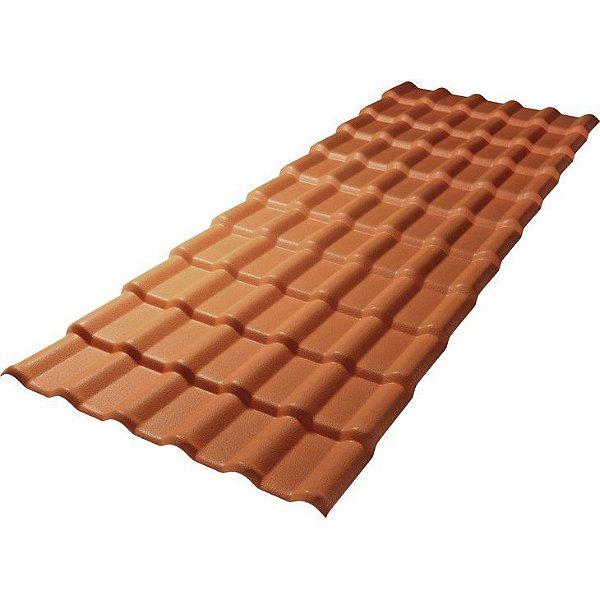 Telha plan PVC 2,42m Cerâmica
