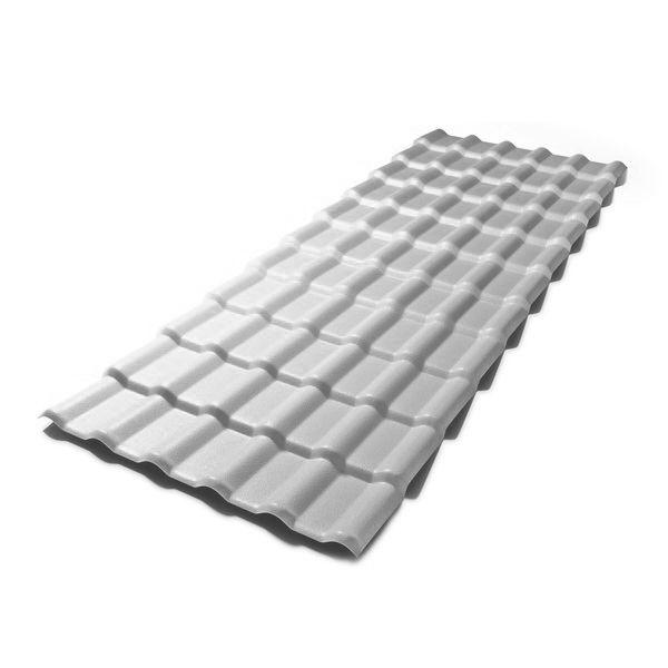 Telha plan PVC 2,42m Concreto(cinza)