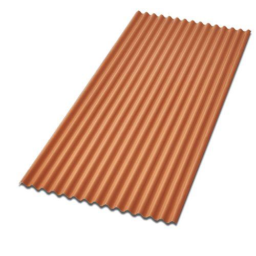 Telha Minionda em PVC cerâmica 1,80m x 0,91m