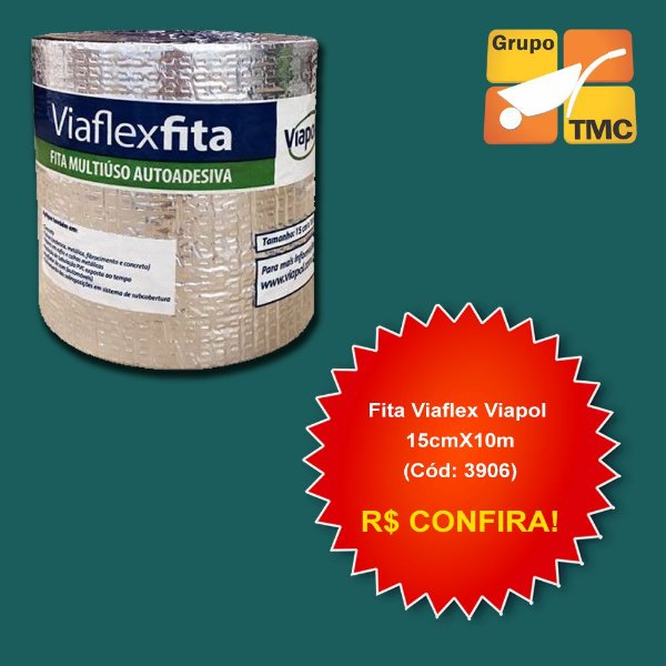 Fita Viaflex Viapol 15cm x 10m x 1,5m² (Cód: 3906)