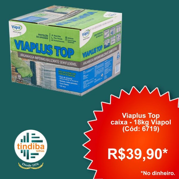 Viaplus Top, caixa - 18kg Viapol (Cód: 6719)
