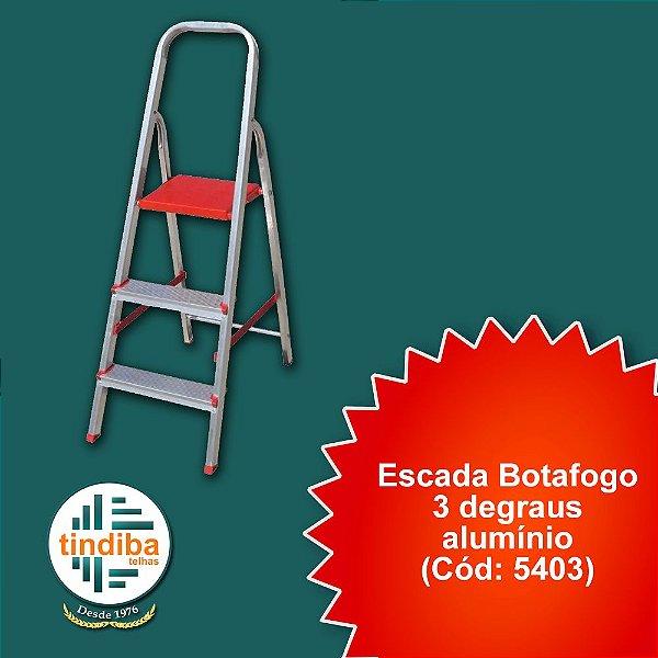 Escada botafogo 3 degraus - alumínio(Cód: 5403)