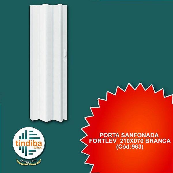 Porta sanfonada Fortlev 210x070 branca (Cód:963)