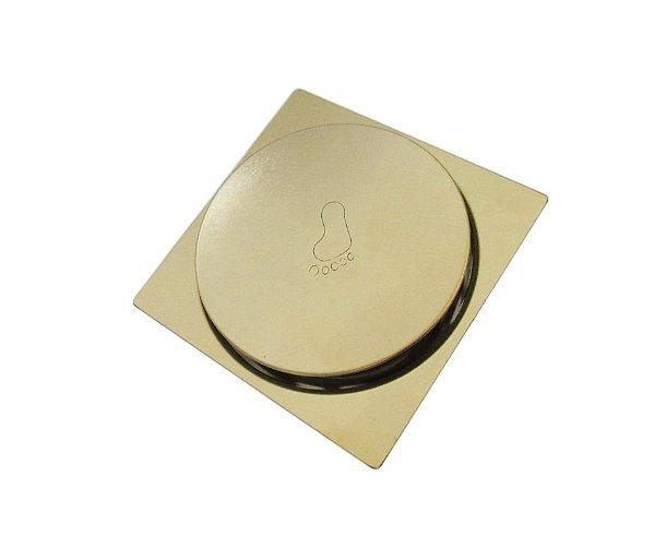 Ralo Inteligente Click Dourado 9,5 x 9,5 cm - By Fineza