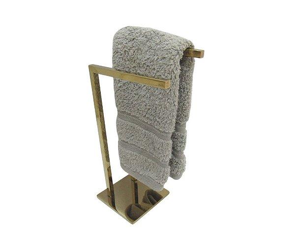 Toalheira Dourada Dupla em aço inox para banheiro ou lavabo - By Fineza