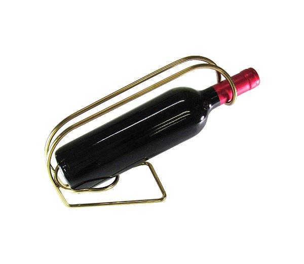 Suporte para Garrafa de Vinho – Dourado By Fineza
