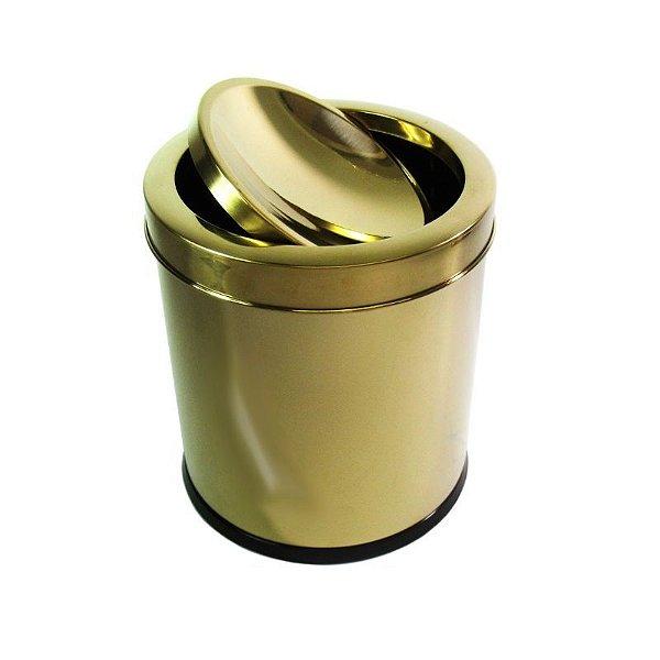 Lixeira Dourada 5L Basculante - By Fineza
