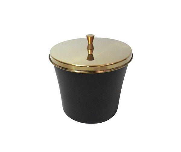 Lixeira Dourada e Preta 3L - By Fineza