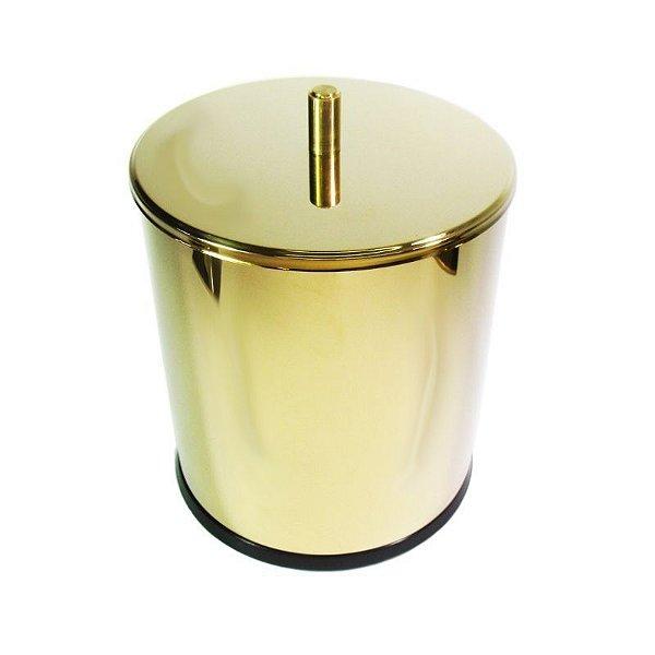 Lixeira Dourada em Aço Inox 5L para Escritório–  By Fineza