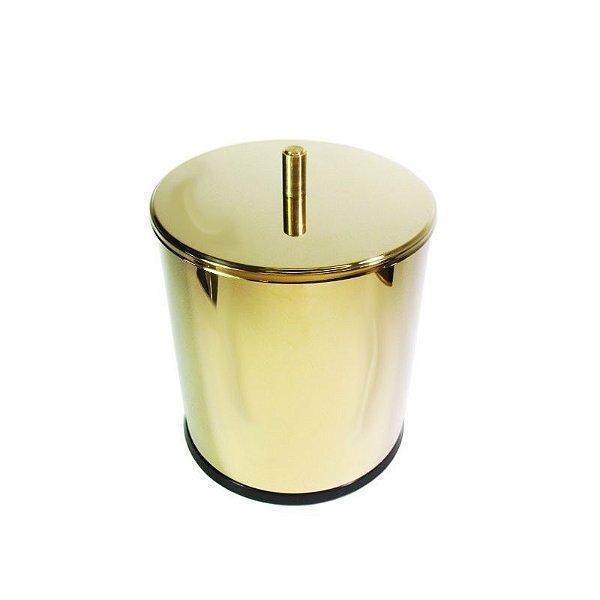 Lixeira Dourada em Aço Inox 3L para escritório – By Fineza