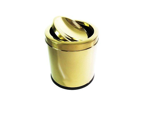 Lixeira Dourada 3,2L Basculante - By Fineza